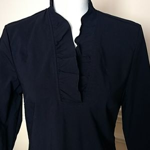 J McLaughlin Navy Ruffle Dress Sz 8